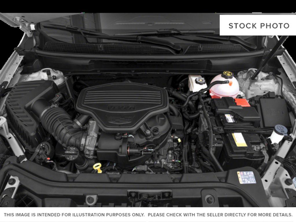 Black[Stellar Black Metallic] 2022 Cadillac XT5 Premium Luxury Engine Compartment Photo in Calgary AB