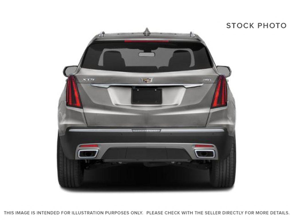 Black[Stellar Black Metallic] 2022 Cadillac XT5 Premium Luxury Rear of Vehicle Photo in Calgary AB