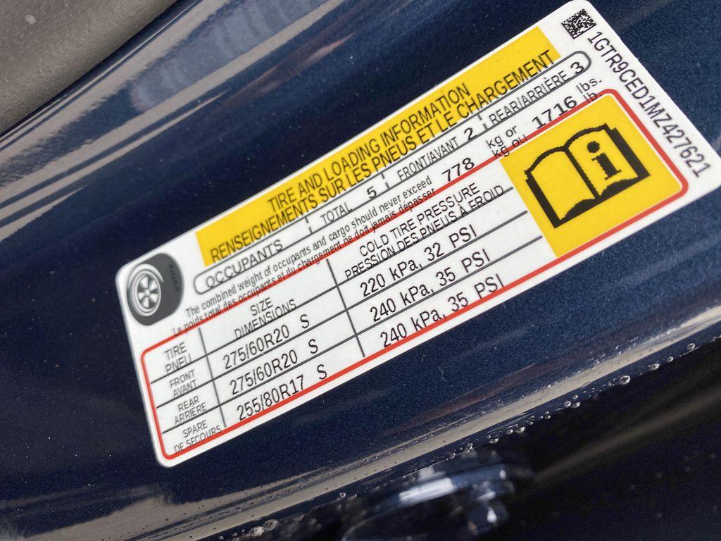 Blue[Pacific Blue Metallic] 2021 GMC Sierra 1500 DOT Label Photo in Edmonton AB