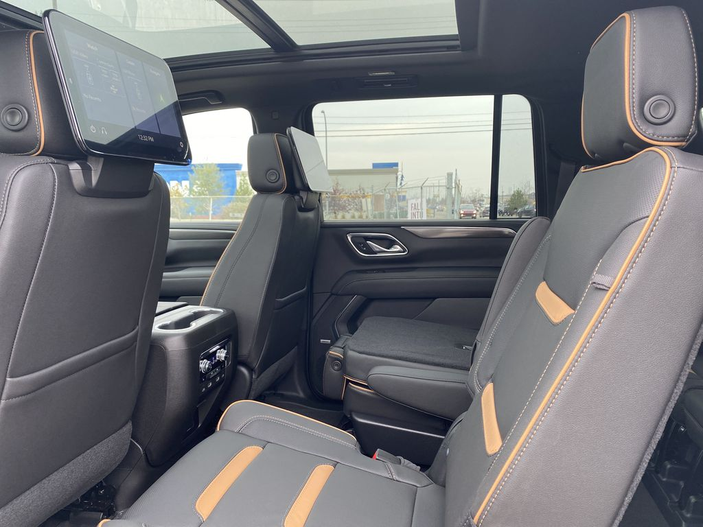 White[White Frost Tricoat] 2021 GMC Yukon XL Left Side Rear Seat  Photo in Edmonton AB