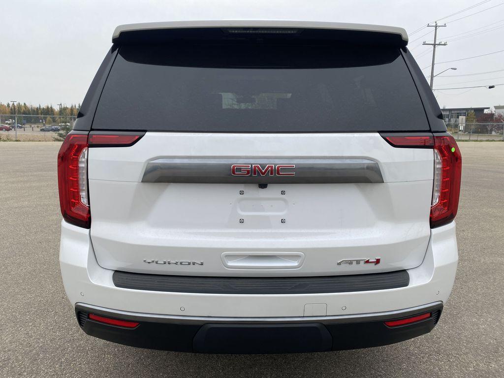 White[White Frost Tricoat] 2021 GMC Yukon XL Rear of Vehicle Photo in Edmonton AB