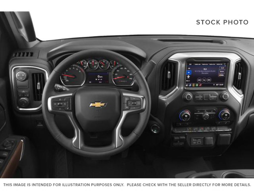 White[Iridescent Pearl Tricoat] 2020 Chevrolet Silverado 1500 Steering Wheel and Dash Photo in Fort Macleod AB
