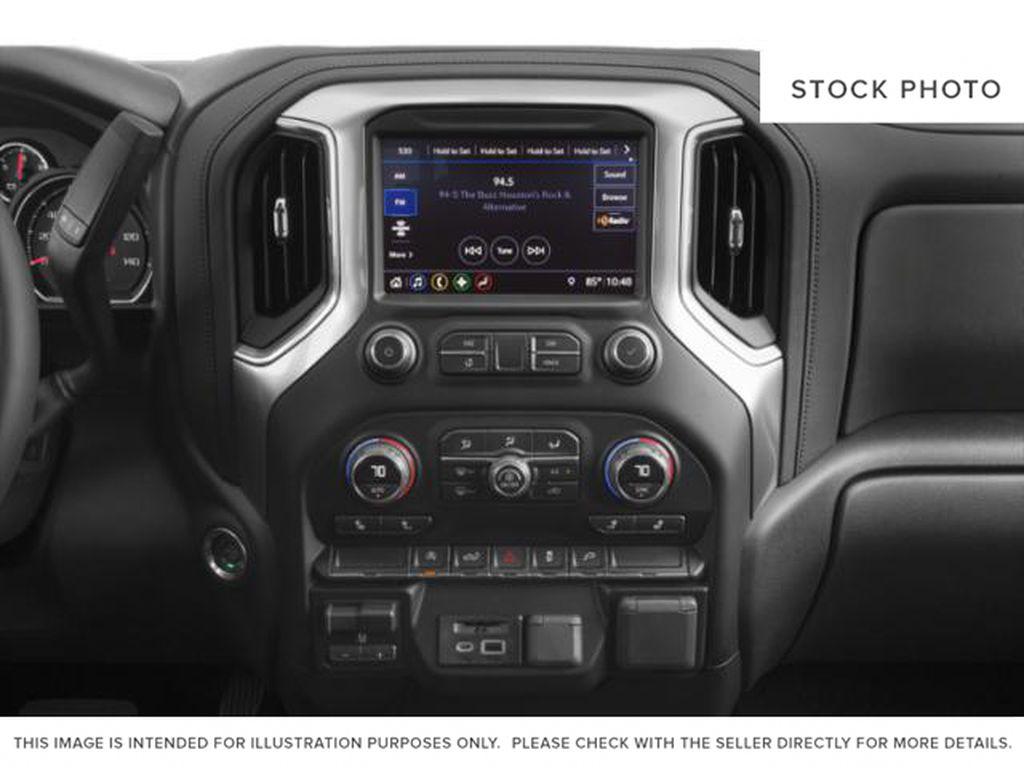 White[Iridescent Pearl Tricoat] 2020 Chevrolet Silverado 1500 Radio Controls Closeup Photo in Fort Macleod AB
