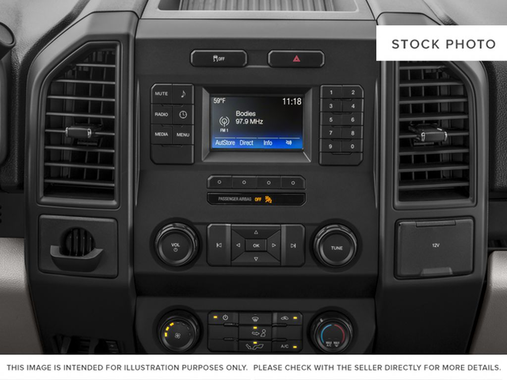 Red[Race Red] 2017 Ford F-150 Radio Controls Closeup Photo in Fort Macleod AB