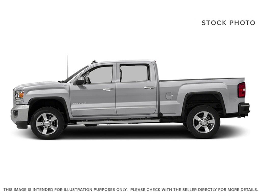 Silver[Quicksilver Metallic] 2018 GMC Sierra 2500HD Left Side Photo in Fort Macleod AB