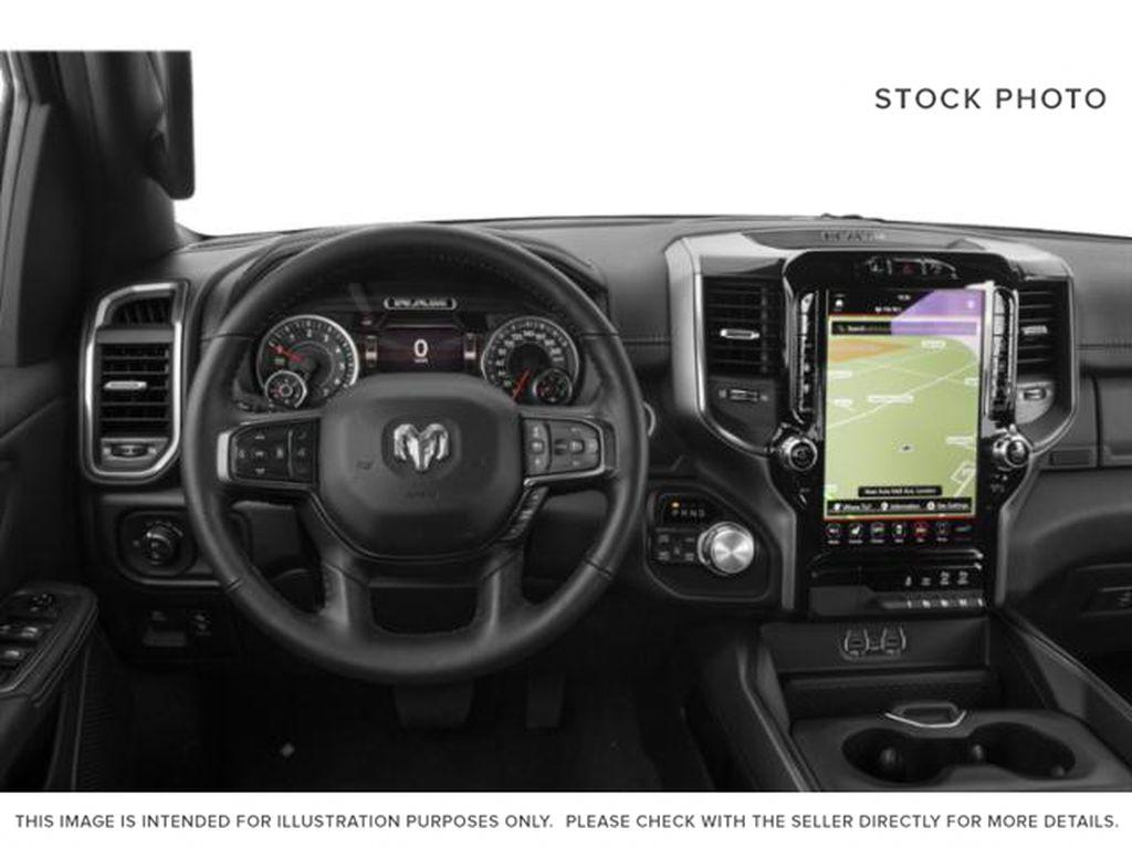 Silver[Billet Silver Metallic] 2020 Ram 1500 Steering Wheel and Dash Photo in Fort Macleod AB