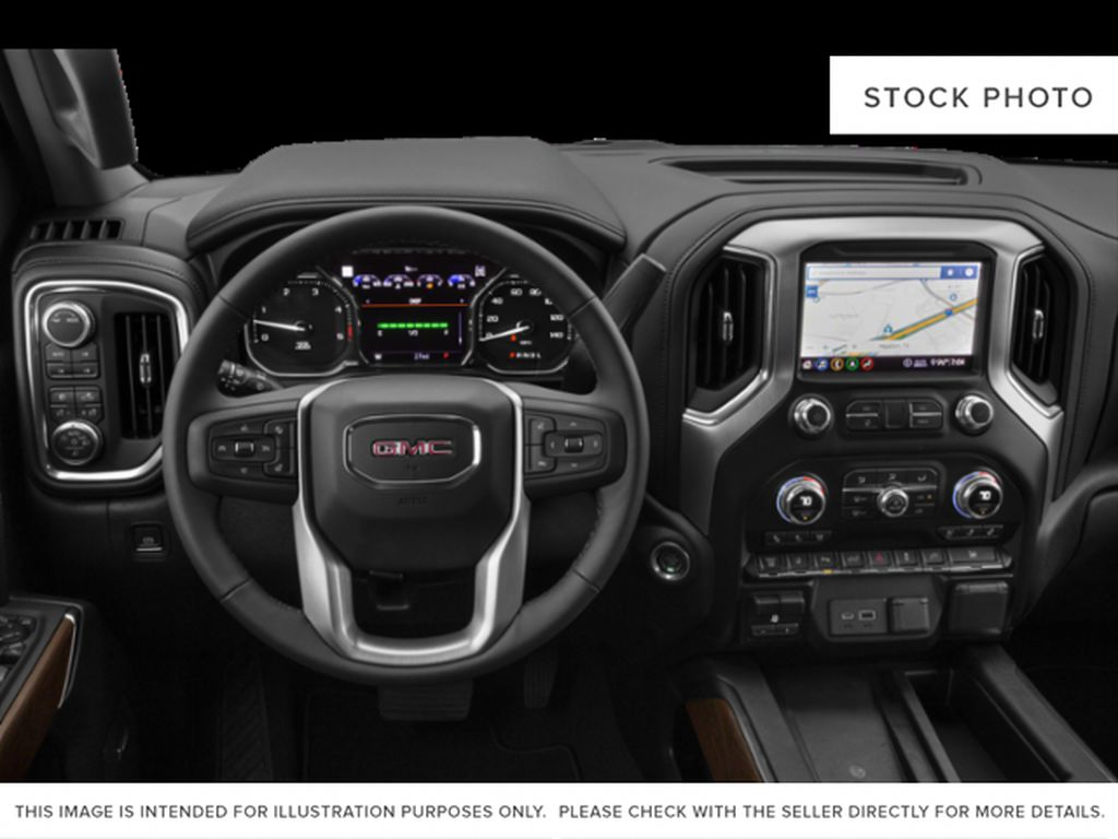 Blue[Pacific Blue Metallic] 2020 GMC Sierra 2500HD Steering Wheel and Dash Photo in Fort Macleod AB