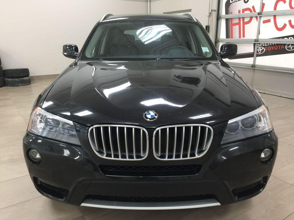 Black[Black Sapphire Metallic] 2013 BMW X3 35I XDRIVE Front Vehicle Photo in Sherwood Park AB
