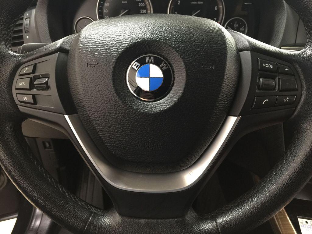 Black[Black Sapphire Metallic] 2013 BMW X3 35I XDRIVE Steering Wheel and Dash Photo in Sherwood Park AB