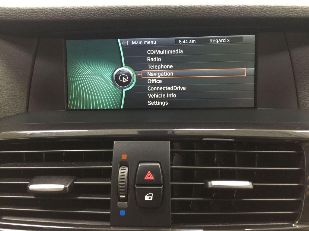 Black[Black Sapphire Metallic] 2013 BMW X3 35I XDRIVE Infotainment Closeup Photo in Sherwood Park AB