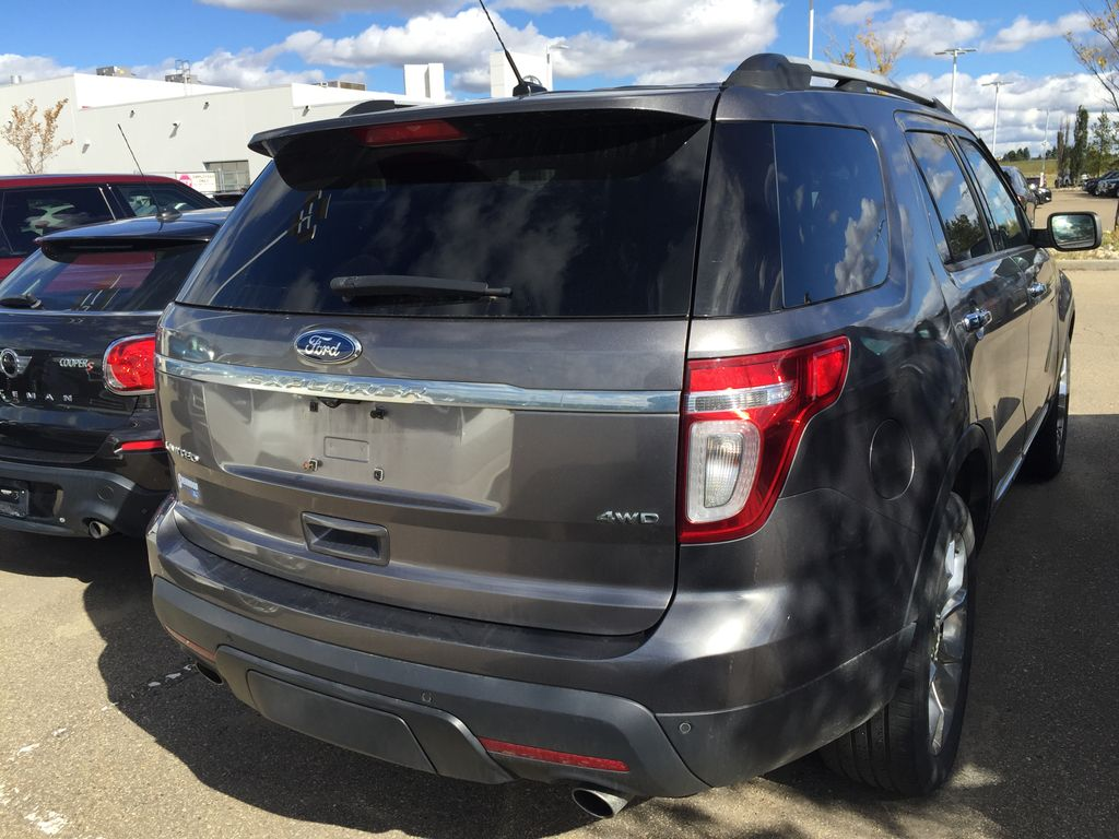 Silver[Ingot Silver Metallic] 2011 Ford Explorer LIMITED AWD Rear of Vehicle Photo in Sherwood Park AB