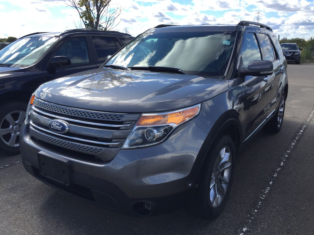Silver[Ingot Silver Metallic] 2011 Ford Explorer LIMITED AWD Left Side Photo in Sherwood Park AB
