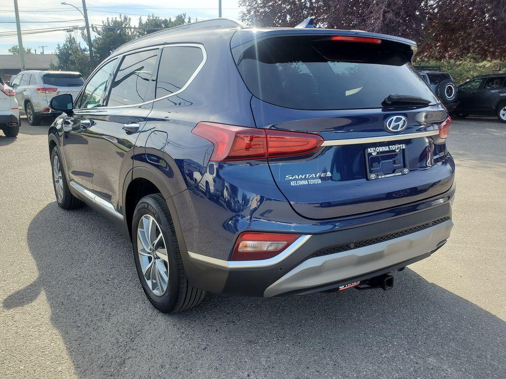 Blue[Stormy Sea] 2019 Hyundai Santa Fe Left Rear Corner Photo in Kelowna BC