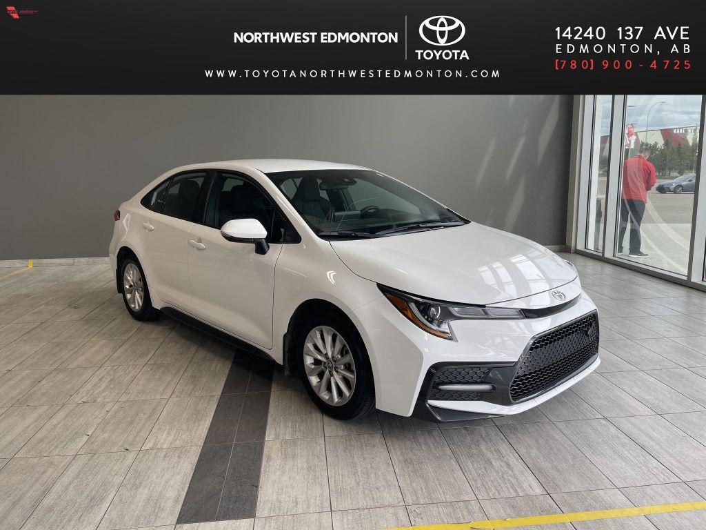 White 2021 Toyota Corolla SE