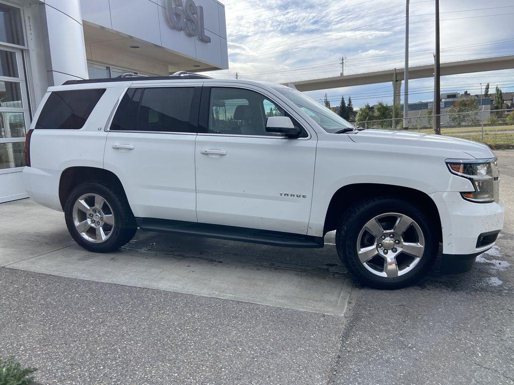 White[Summit White] 2016 Chevrolet Tahoe LT Passenger Rear Door Controls Photo in Calgary AB