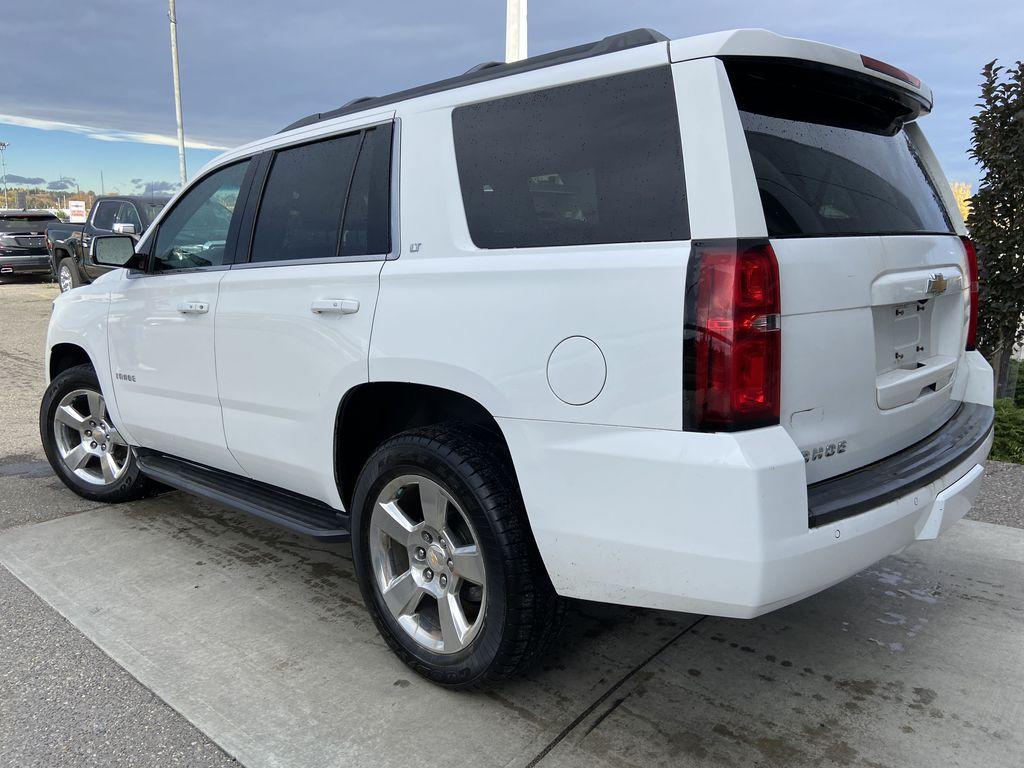 White[Summit White] 2016 Chevrolet Tahoe LT Left Rear Corner Photo in Calgary AB