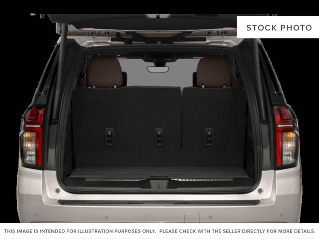 White[Iridescent Pearl Tricoat] 2021 Chevrolet Tahoe High Country Trunk / Cargo Area Photo in Calgary AB