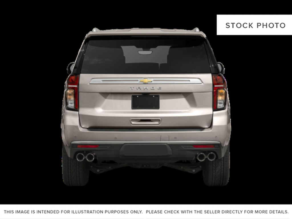 White[Iridescent Pearl Tricoat] 2021 Chevrolet Tahoe High Country Rear of Vehicle Photo in Calgary AB