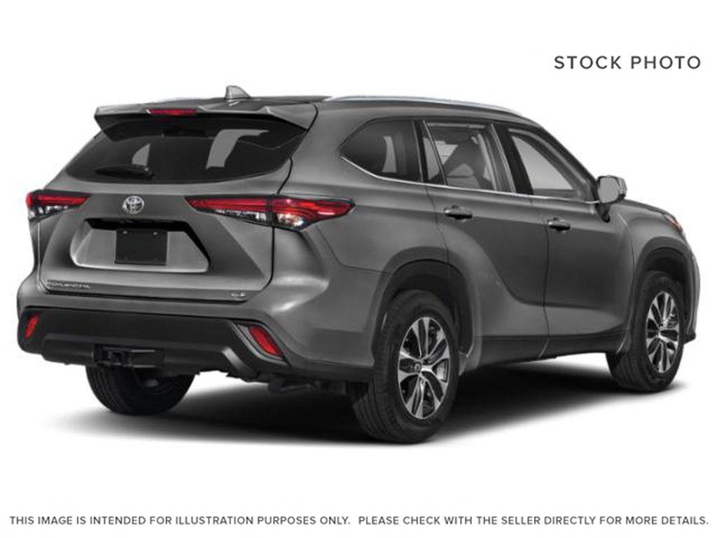 Gray[Magnetic Grey Metallic] 2021 Toyota Highlander Right Rear Corner Photo in Kelowna BC