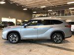 Celestial Silver Metallic 2021 Toyota Highlander Hybrid XLE Left Side Photo in Edmonton AB