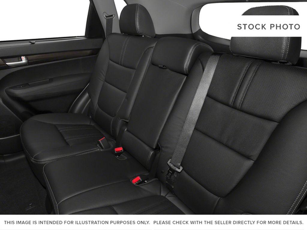 Silver[Satin Metal Metallic] 2015 Kia Sorento Left Side Rear Seat  Photo in Lethbridge AB
