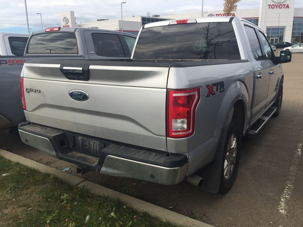 Silver[Ingot Silver Metallic] 2017 Ford F-150 CREW CAB XLT 3.5L ECOBOOST Rear of Vehicle Photo in Sherwood Park AB