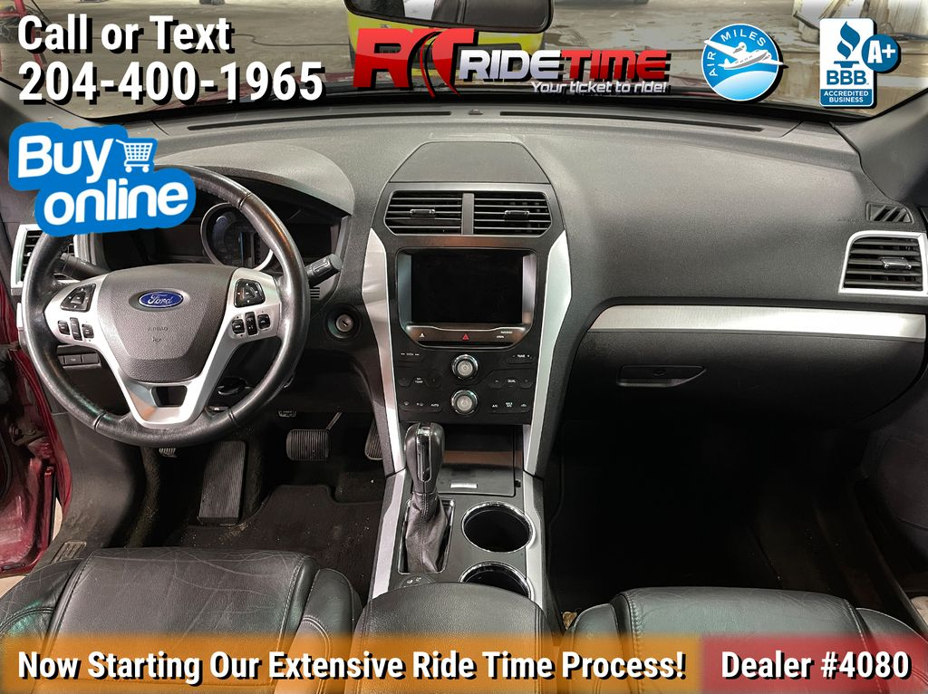 Red[Ruby Red Metallic Tinted Clearcoat] 2014 Ford Explorer XLT 4WD - Leather, Navigation, 7 Passenger Central Dash Options Photo in Winnipeg MB
