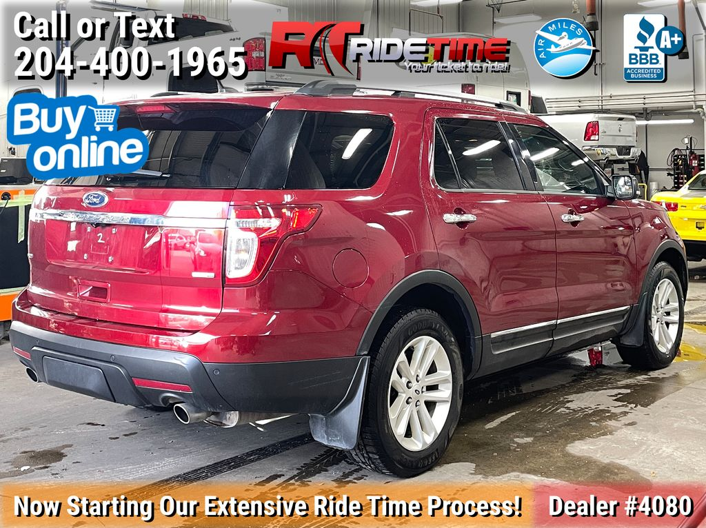 Red[Ruby Red Metallic Tinted Clearcoat] 2014 Ford Explorer XLT 4WD - Leather, Navigation, 7 Passenger Right Rear Corner Photo in Winnipeg MB