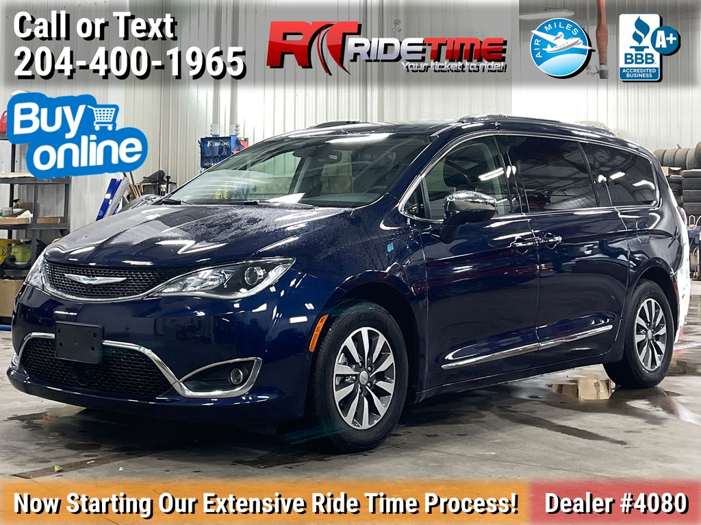 Blue[Jazz Blue Pearl] 2020 Chrysler Pacifica Hybrid Limited - Leather, Rear Dual DVD