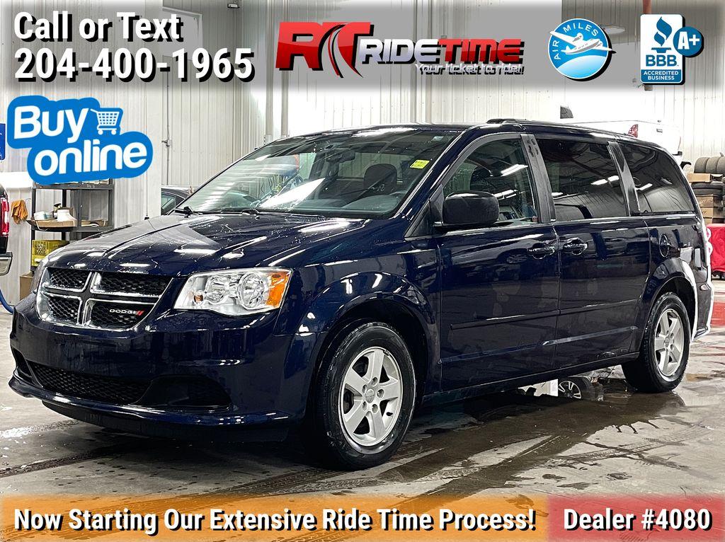 Blue[True Blue Pearl] 2012 Dodge Grand Caravan SXT Plus - Rear DVD, NAV, Power Doors