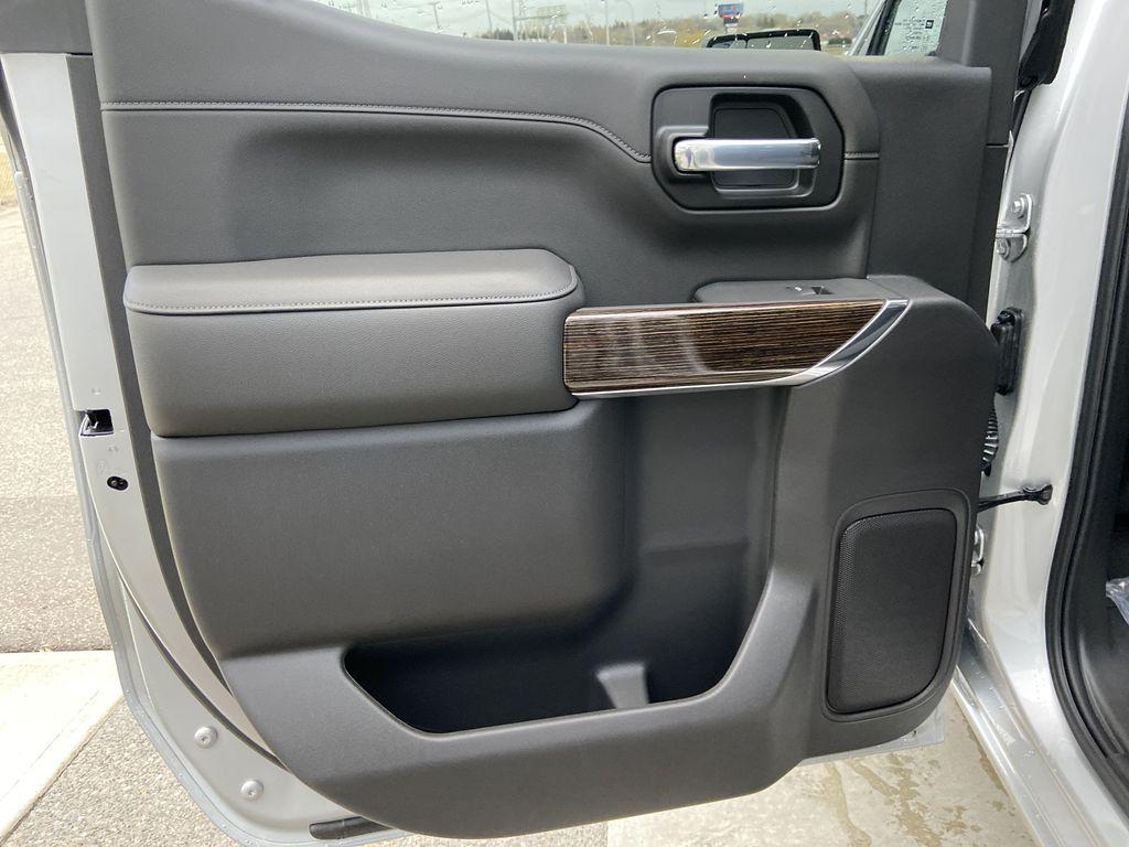 Silver[Quicksilver Metallic] 2021 GMC Sierra 1500 Elevation Left Rear Interior Door Panel Photo in Calgary AB