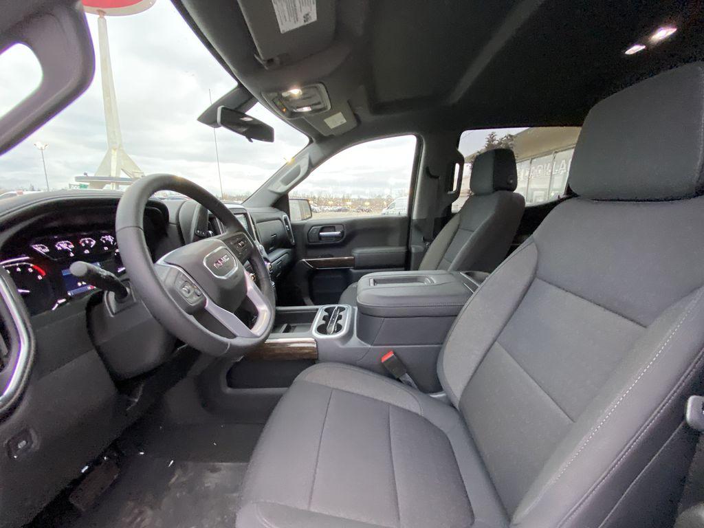 Silver[Quicksilver Metallic] 2021 GMC Sierra 1500 Elevation Left Front Interior Photo in Calgary AB