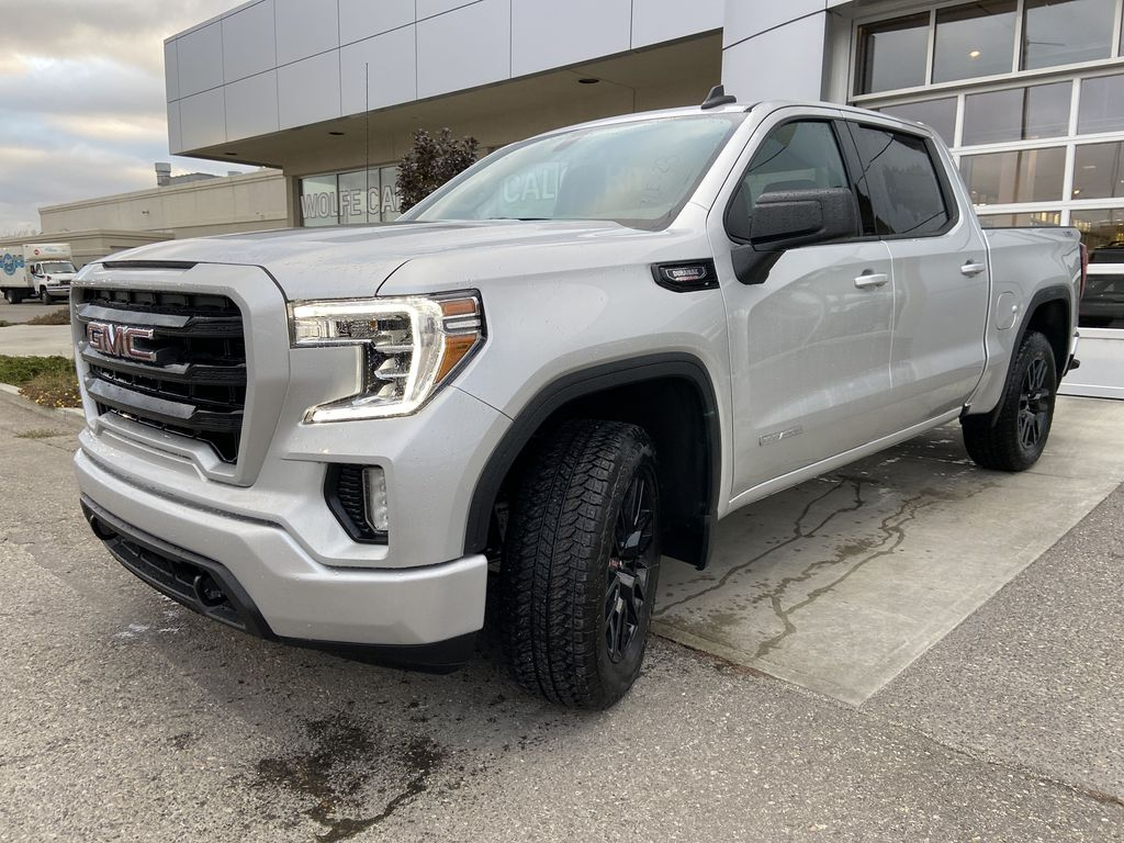 Silver[Quicksilver Metallic] 2021 GMC Sierra 1500 Elevation Left Front Head Light / Bumper and Grill in Calgary AB
