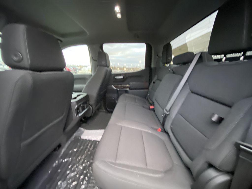 Silver[Quicksilver Metallic] 2021 GMC Sierra 1500 Elevation Left Side Rear Seat  Photo in Calgary AB