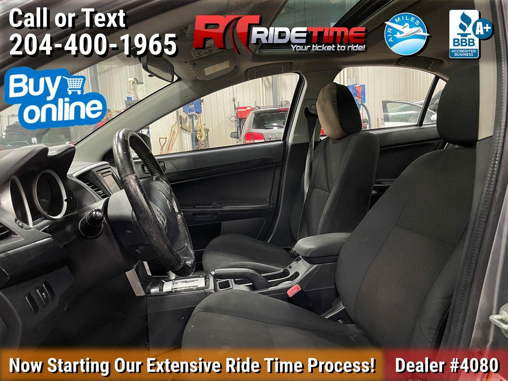 Silver[Alloy Silver] 2016 Mitsubishi Lancer SE LTD - Heated Seats, Backup Camera, Sunroof Left Front Interior Photo in Winnipeg MB