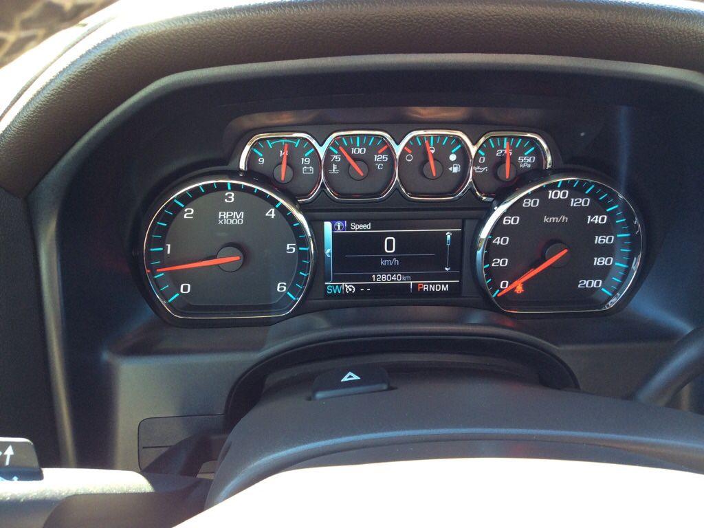 Grey 2015 Chevrolet Silverado 1500 Steering Wheel and Dash Photo in Westlock AB