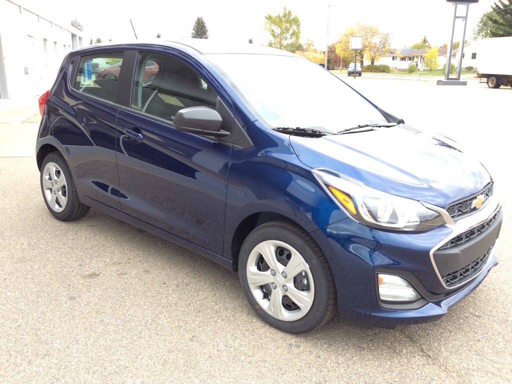 Blue 2022 Chevrolet Spark Left Front Head Light / Bumper and Grill in Westlock AB