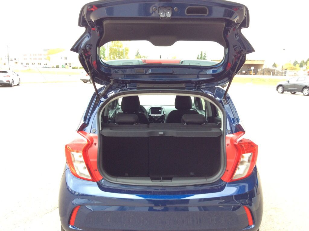 Blue 2022 Chevrolet Spark Rear of Vehicle Photo in Westlock AB
