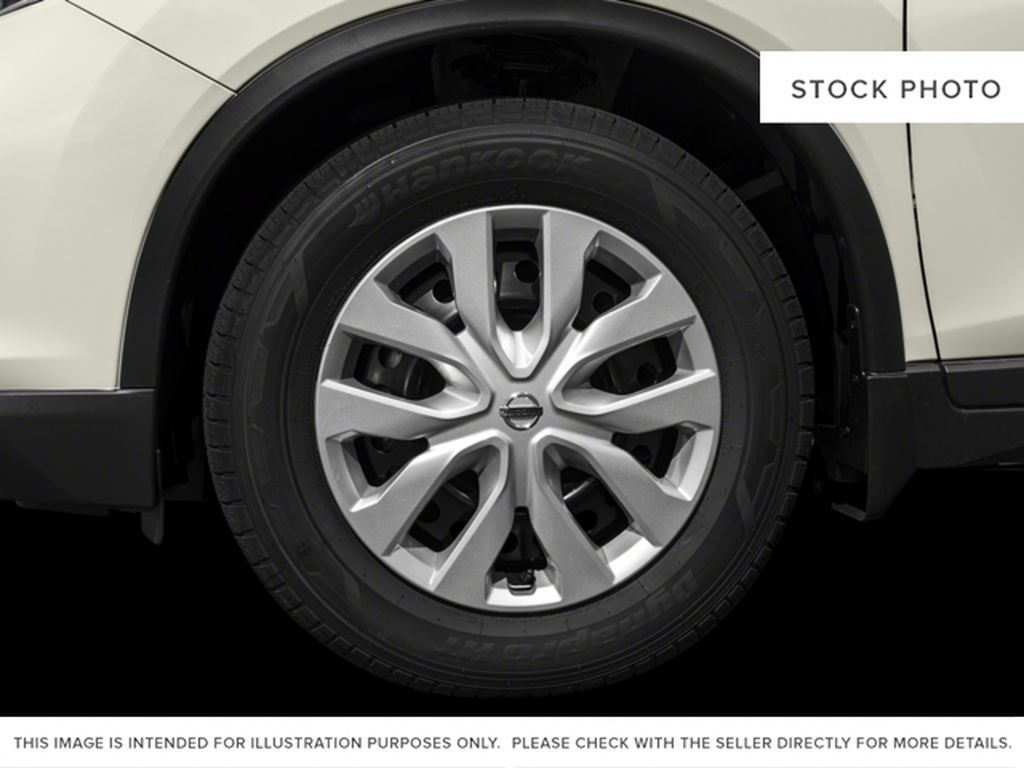 White[Glacier White] 2017 Nissan Rogue Left Front Rim and Tire Photo in Okotoks AB