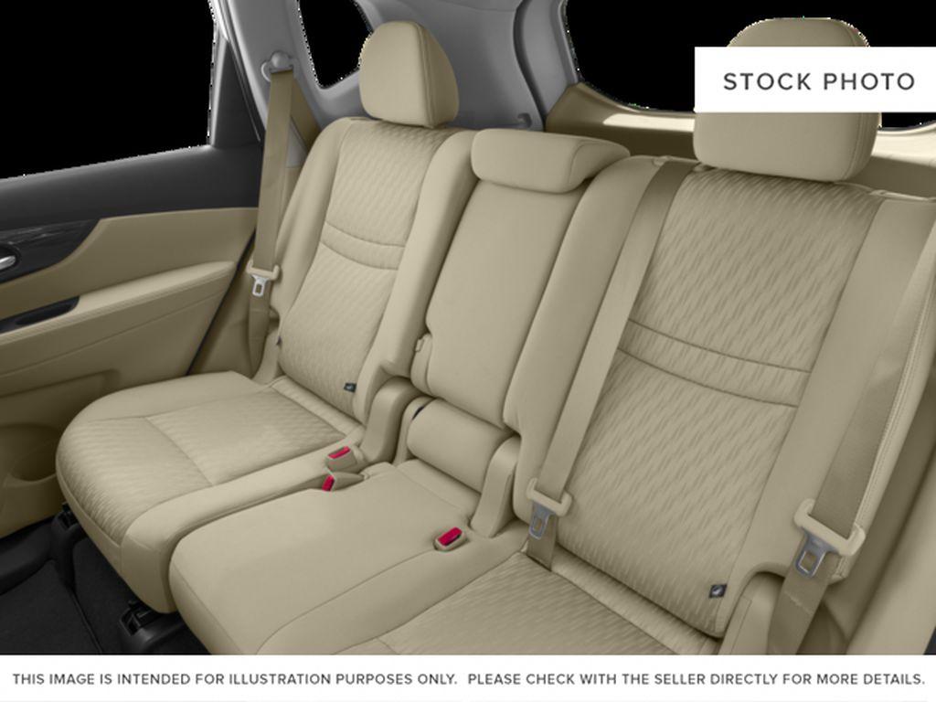 White[Glacier White] 2017 Nissan Rogue Left Side Rear Seat  Photo in Okotoks AB