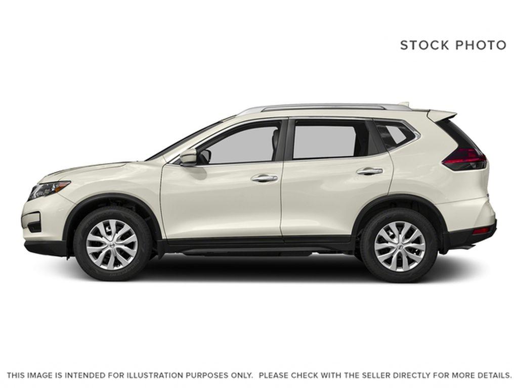 White[Glacier White] 2017 Nissan Rogue Left Side Photo in Okotoks AB