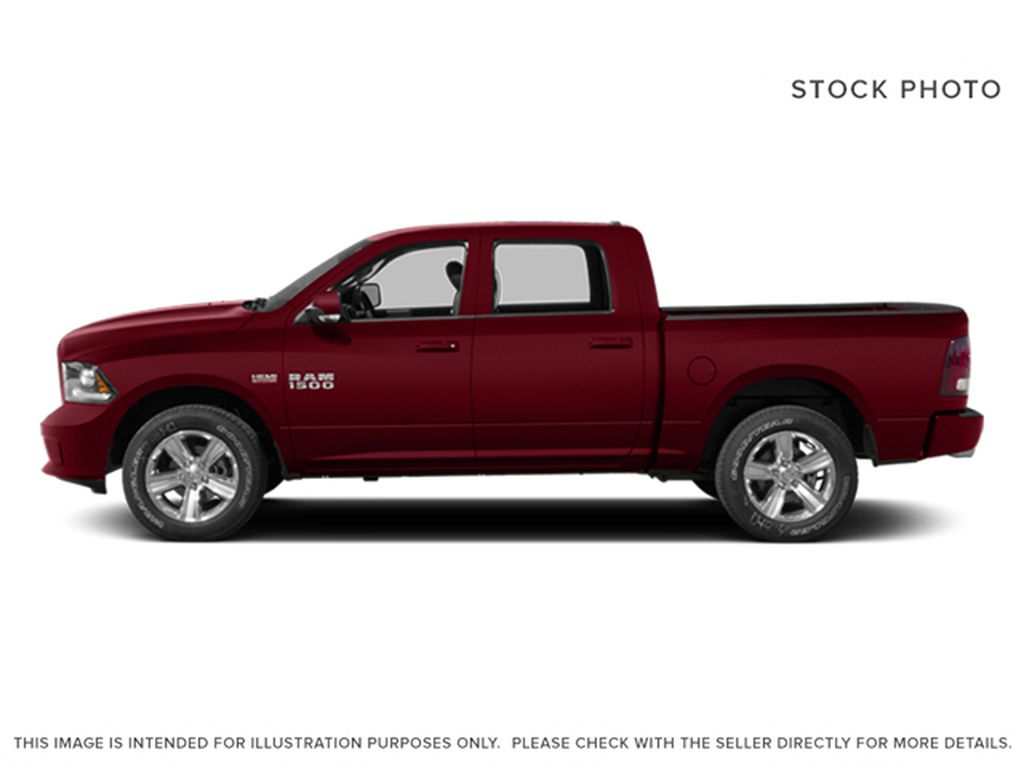 Red[Deep Cherry Red Crystal Pearlcoat] 2014 Ram 1500 Left Side Photo in Fort Macleod AB