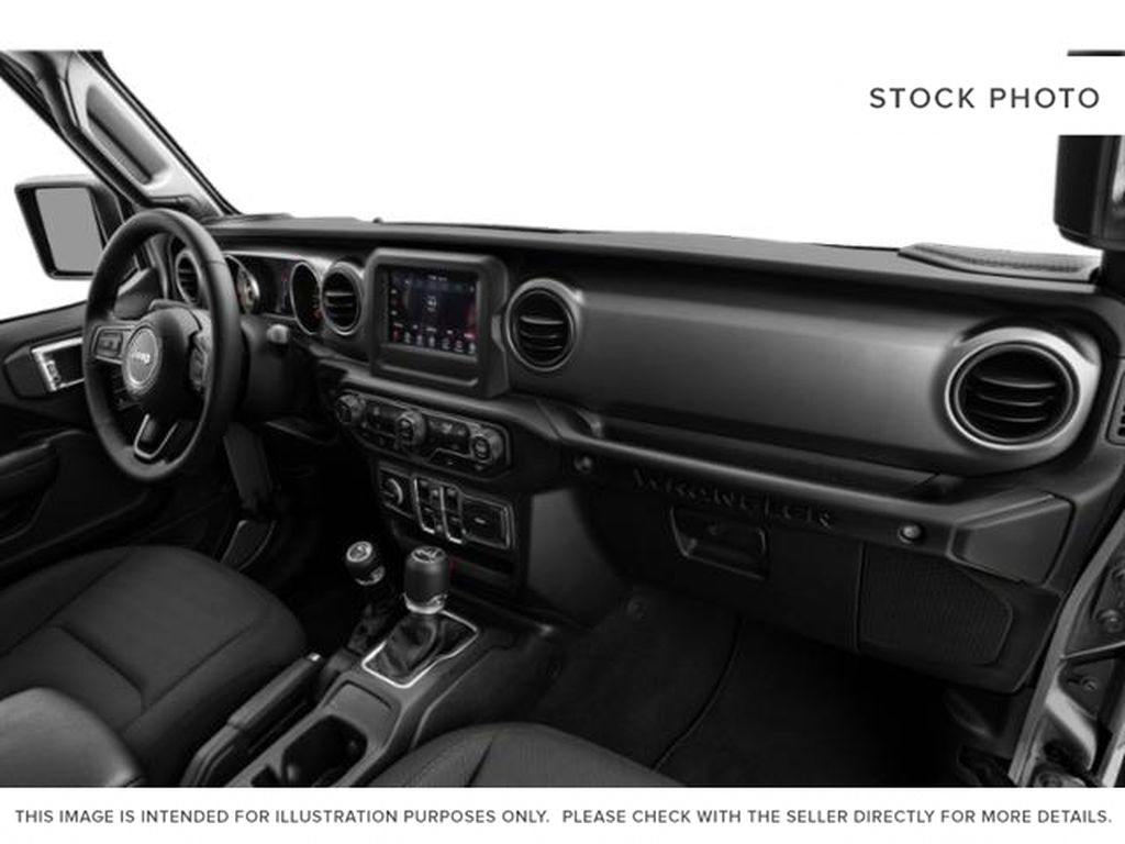 Teal 2020 Jeep Wrangler Unlimited Steering Wheel and Dash Photo in Brockville ON