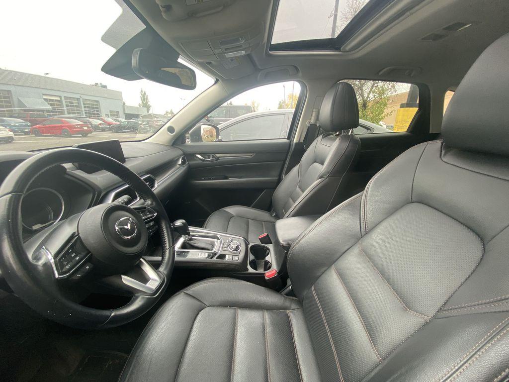 MACHINE GREY METALLIC 2017 Mazda CX-5 GT Tech Package Left Front Interior Door Panel Photo in Edmonton AB