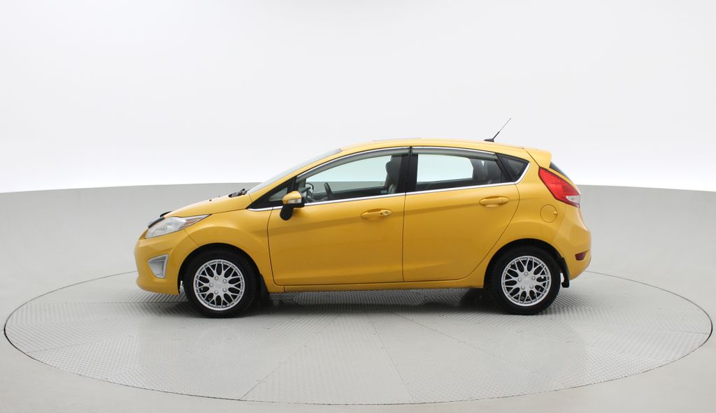 Yellow[Yellow Blaze Metallic Tri-Coat] 2011 Ford Fiesta SES - Automatic, Leather, LOW PRICE, Sunroof Left Side Photo in Winnipeg MB