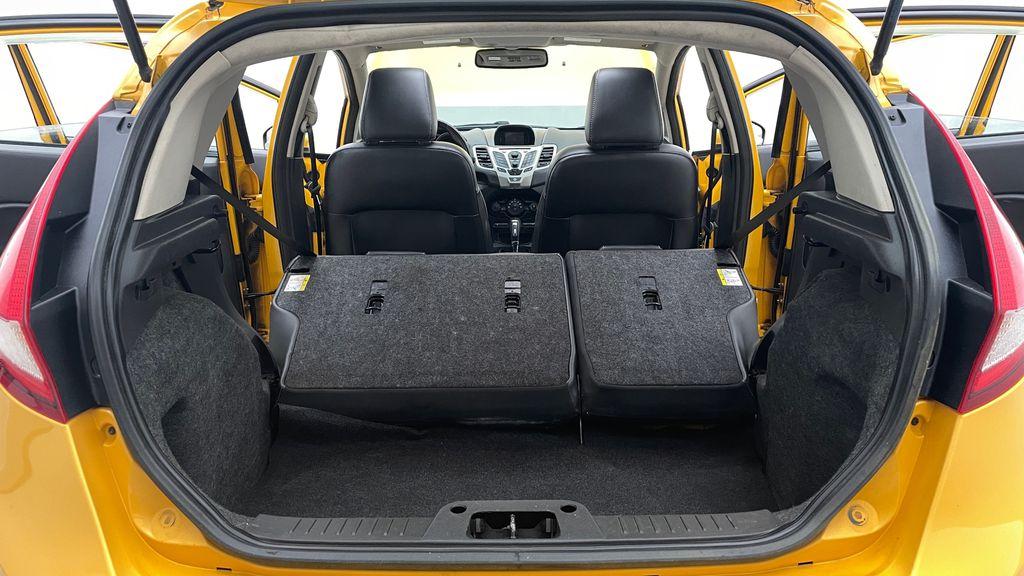Yellow[Yellow Blaze Metallic Tri-Coat] 2011 Ford Fiesta SES - Automatic, Leather, LOW PRICE, Sunroof Rear Seat: Cargo/Storage Photo in Winnipeg MB