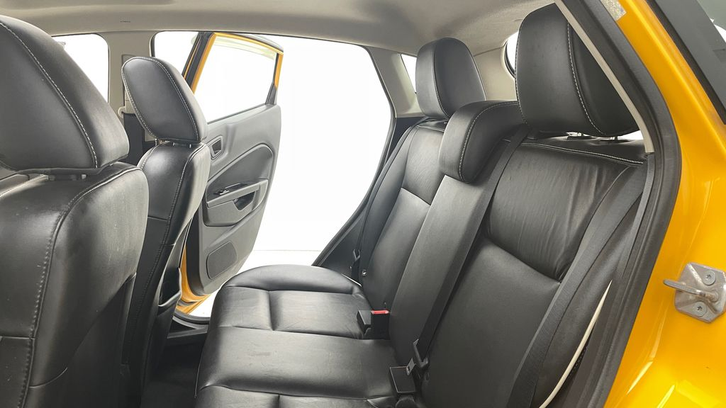 Yellow[Yellow Blaze Metallic Tri-Coat] 2011 Ford Fiesta SES - Automatic, Leather, LOW PRICE, Sunroof Left Side Rear Seat  Photo in Winnipeg MB