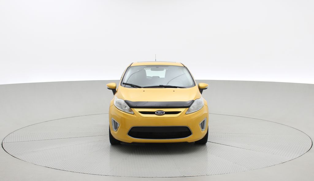 Yellow[Yellow Blaze Metallic Tri-Coat] 2011 Ford Fiesta SES - Automatic, Leather, LOW PRICE, Sunroof Front Vehicle Photo in Winnipeg MB