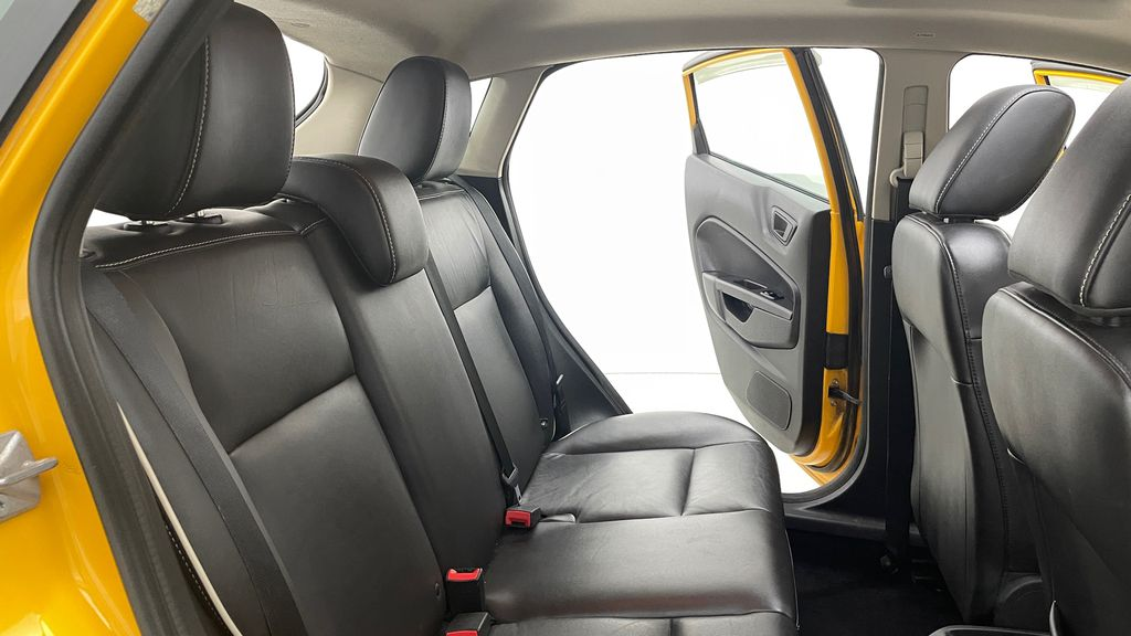 Yellow[Yellow Blaze Metallic Tri-Coat] 2011 Ford Fiesta SES - Automatic, Leather, LOW PRICE, Sunroof Right Side Rear Seat  Photo in Winnipeg MB