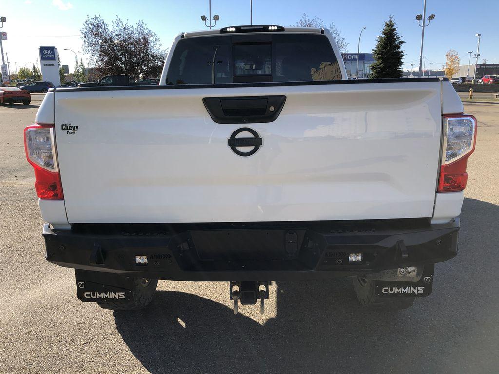White[Glacier White] 2018 Nissan Titan XD Rear of Vehicle Photo in Edmonton AB